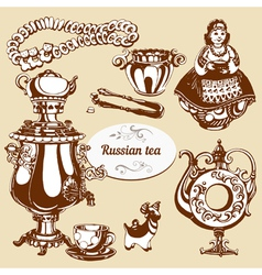 Russian tea vector