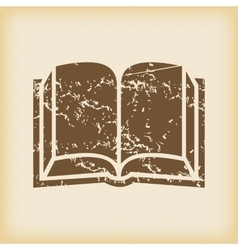 Grungy book icon vector