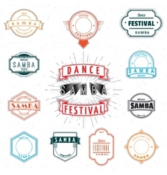 Dance festival insignia and labels for any use vector