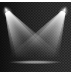 Scene transparent lights effects on a plaid dark vector