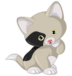 cat cartoon posing vector image