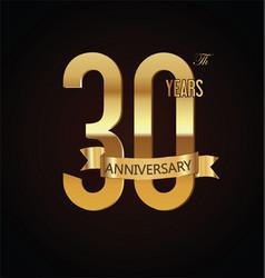 anniversary retro vintage badge 30 vector image