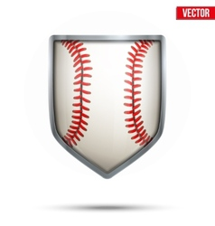 Bright shield in the baseball ball inside vector