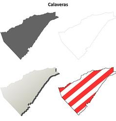 Calaveras county california outline map set vector