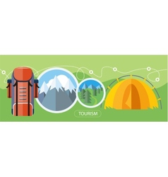 Camping Tourism Concept vector image vector image