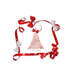 Christmas background with Christmas tree and Shiny vector image