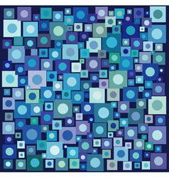 Circle square collection in many blue purple vector