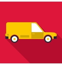Delivery car icon flat style vector image