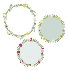 Floral wreath design vector image