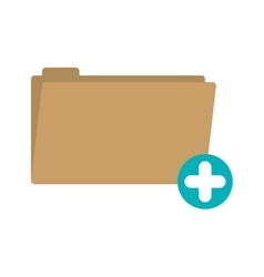 Folder with symbol add more vector