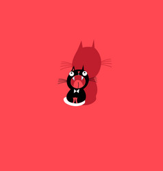 funny kitten sign vector image vector image