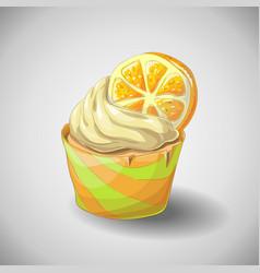 Hand draw citrus cupcake vector