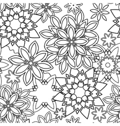 Hand drawn zentangle floral doodles tribal style vector image
