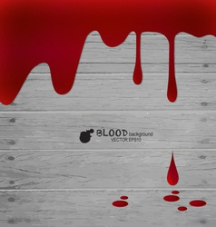 Happy Halloween Blood dripping on wood wall vector image vector image