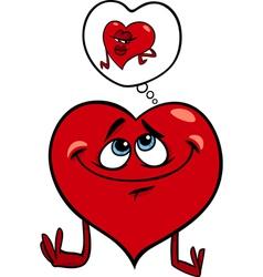 heart in love cartoon vector image