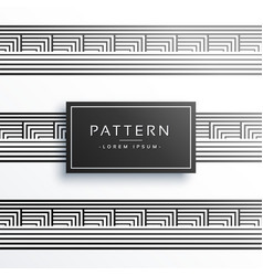 Lines border style pattern background vector