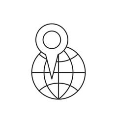 Location icon outline contour vector image vector image