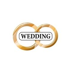 logo wedding vector image vector image