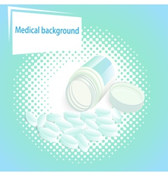 Medical background with pills vector
