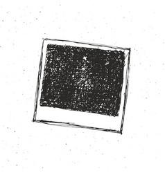 Retro photo frame hand drawn sketch template vector