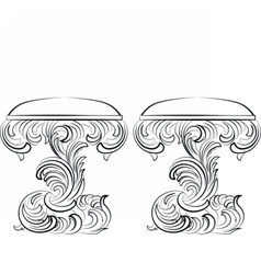 Royal baroque classic chair furniture set vector