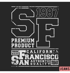 San Francisco vintage stamp vector image