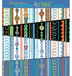 Set of seamless ethnic patterns vector
