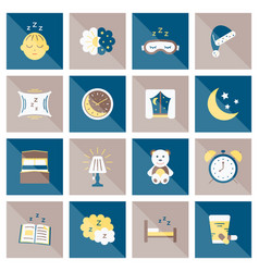 Sleep flat icon vector