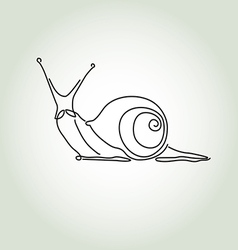 Snail in minimal line style vector image vector image