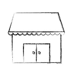 store shop building symbol vector image