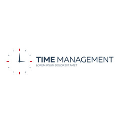 time management time logo flat vector image