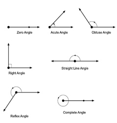 Types of angles vector image