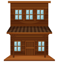 wooden building in western style vector image vector image