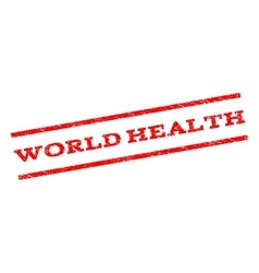 World health watermark stamp vector