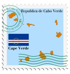 mail to-from Cape Verde vector image