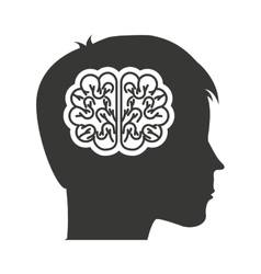 Head profile human with education icon vector