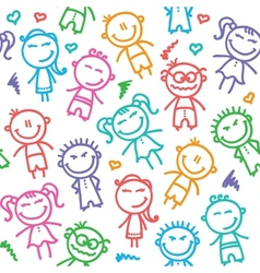 kid pattern vector image