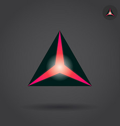 Black triangle with red hole vector image