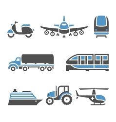 Transport Icons - A set of tenth vector image