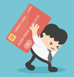 Businessman credit cards loan liability real vector
