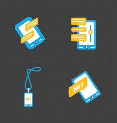 social icons set of smartphones vector image