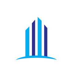 skyscrapers building contruction logo vector image
