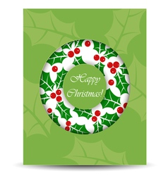 Abstract Christmas card with wreath vector image