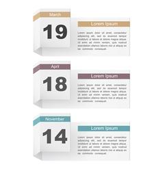 Events Calendar vector image