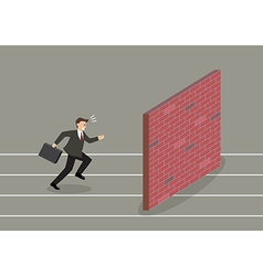 Businessman race to dead end vector