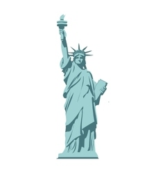 Isolated statue of liberty on white background vector