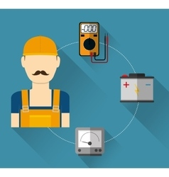 Electric technician man vector