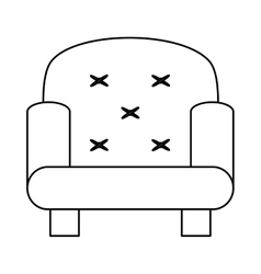 One seat sofa vector