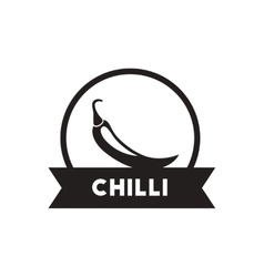 Black icon on white background chilli vector