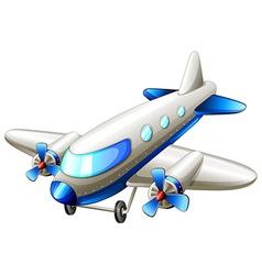 A vintage blue plane vector